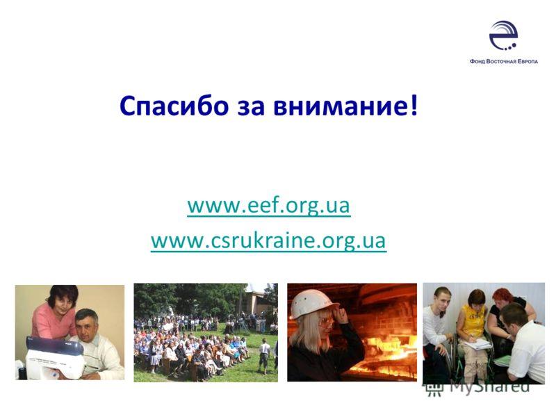 Спасибо за внимание! www.eef.org.ua www.csrukraine.org.ua