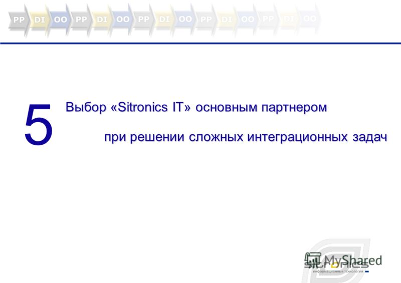 5 Выбор «Sitronics IT» основным партнером при решении сложных интеграционных задач