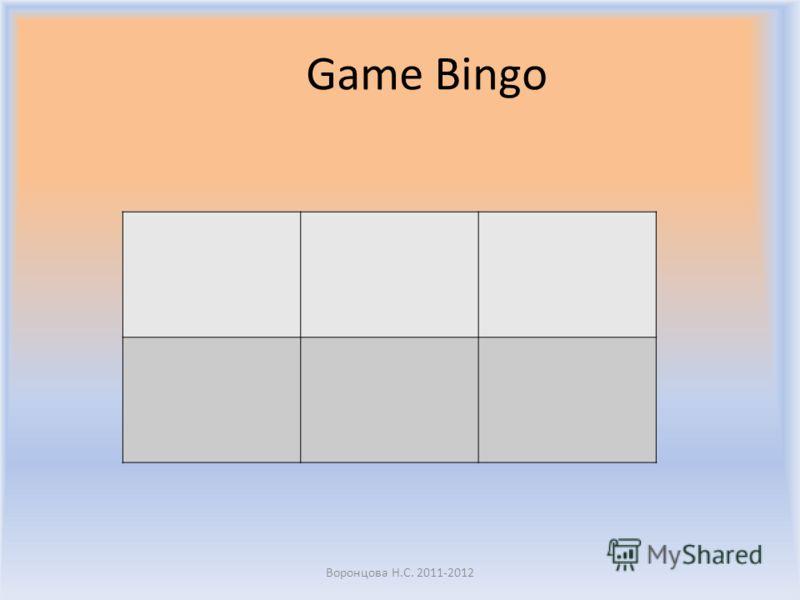 Game Bingo Воронцова Н.С. 2011-2012