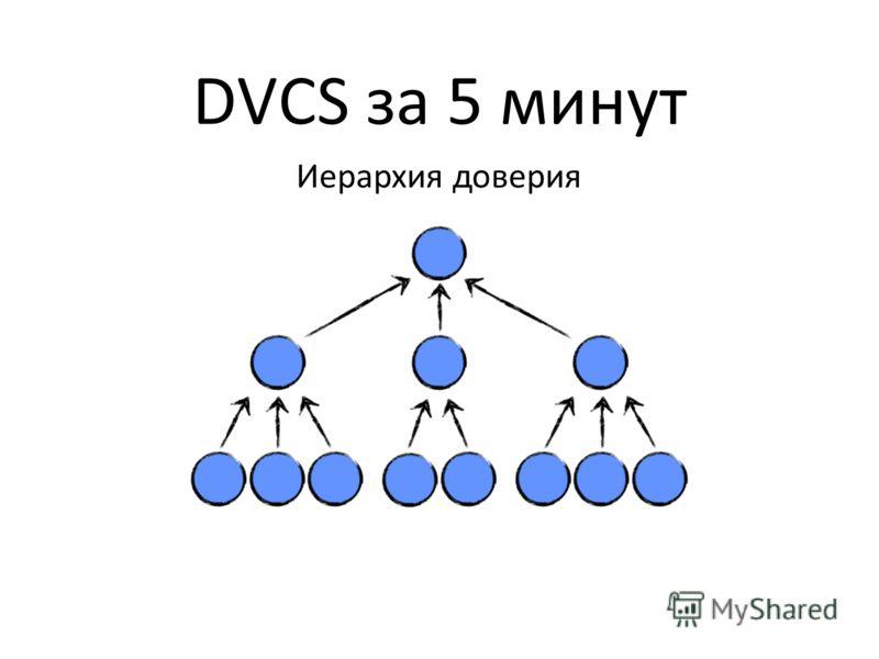 DVCS за 5 минут Иерархия доверия