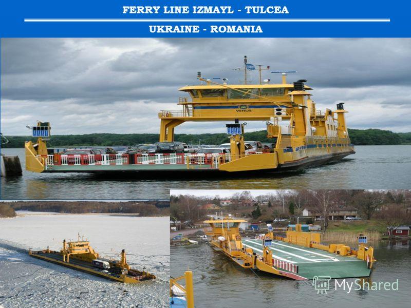 FERRY LINE IZMAYL - TULCEA UKRAINE - ROMANIA