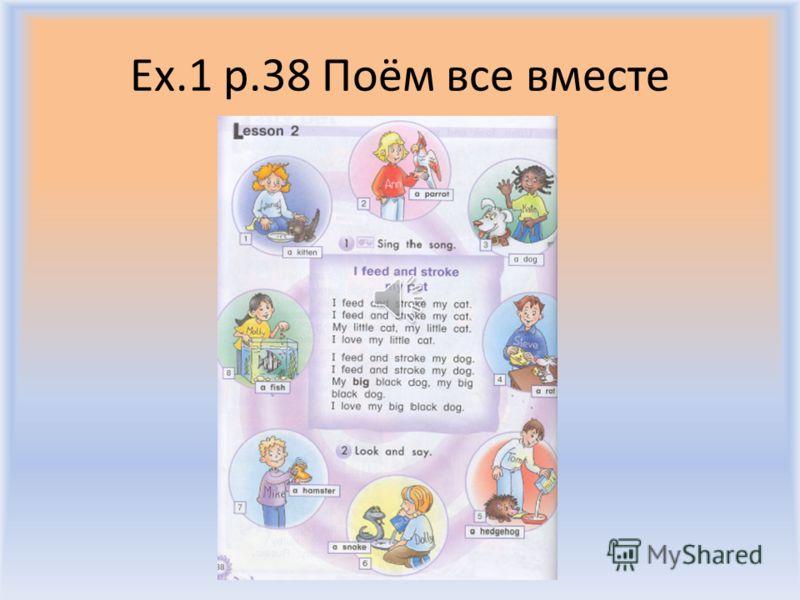 Ex.1 p.38 BIG LITTLE Воронцова Н.С. 2011-2012