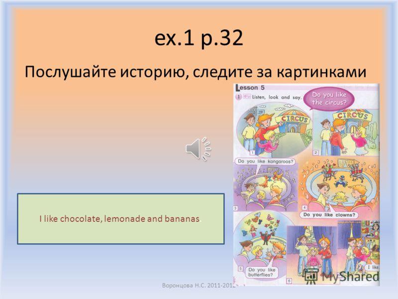 ex.1 p. 32 Послушайте историю про сестру Стива Анну. Воронцова Н.С. 2011-2012