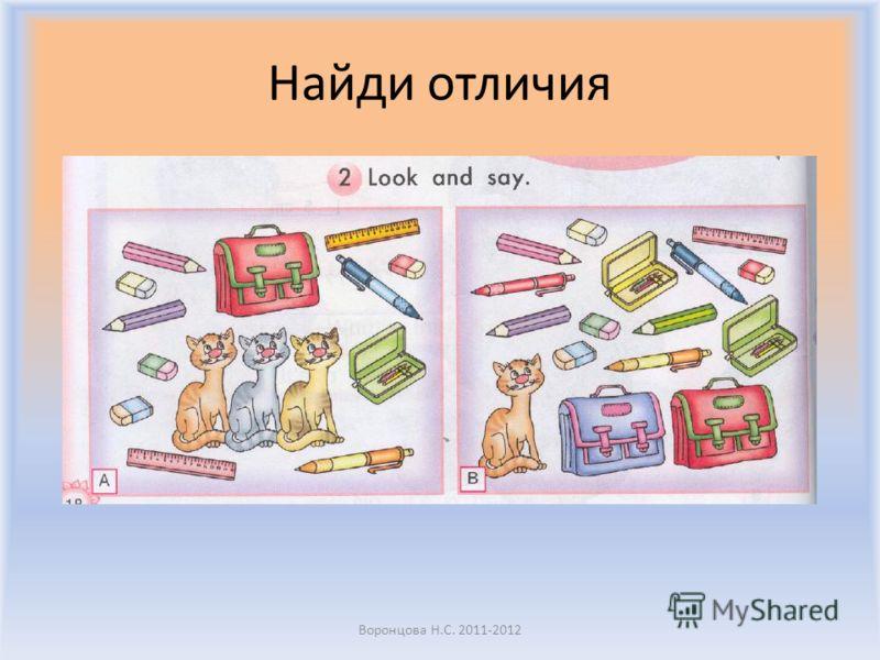 Найди отличия Воронцова Н.С. 2011-2012