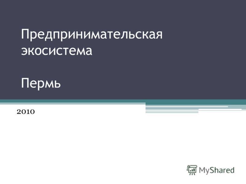 Предпринимательская экосистема Пермь 2010