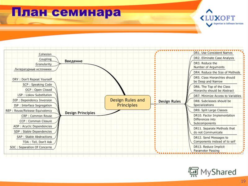 План семинара 19