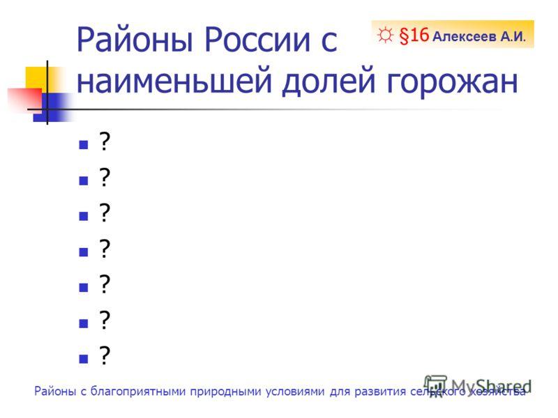Урбанизация в россии 14 15 16 алексеев а