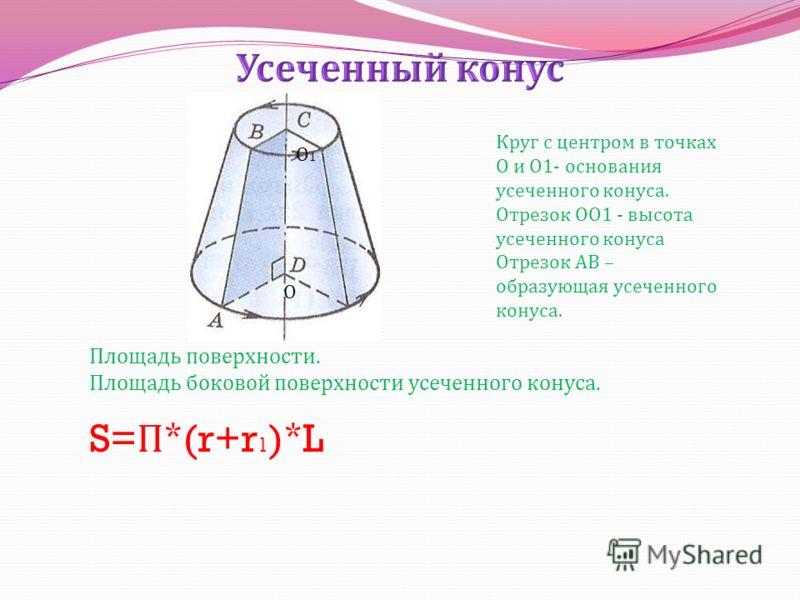 h V=1/3 * S осн. * h V=1/3 * П r ²h