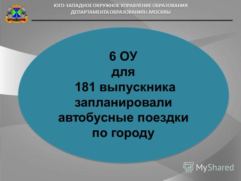 6 ОУ для 181 выпускника запланировали автобусные поездки по городу 6 ОУ для 181 выпускника запланировали автобусные поездки по городу