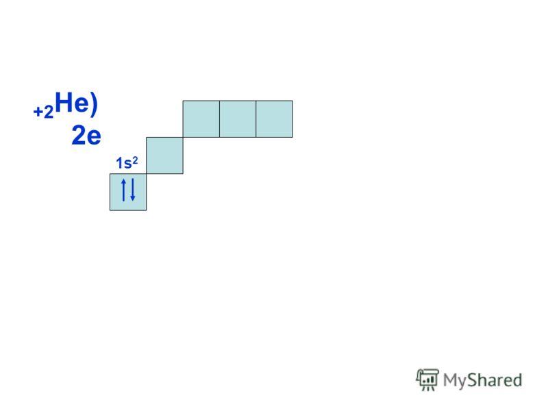 +2 Не) 2е 1s21s2