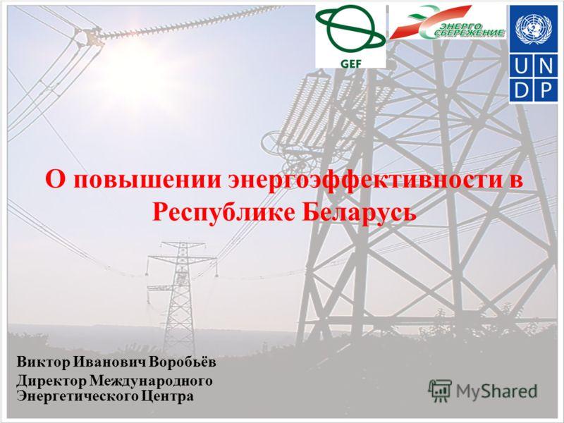 О повышении энергоэффективности в Республике Беларусь Виктор Иванович Воробьёв Директор Международного Энергетического Центра