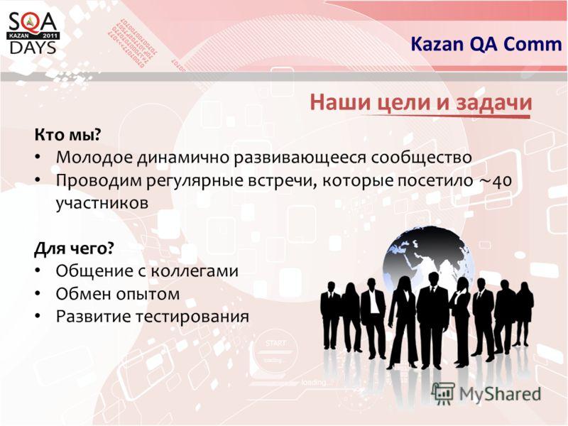Наши цели и задачи Kazan QA Comm