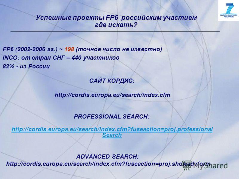 © 2001, Progress Software Corporation Exchange 2001, Washington, DC, USA 8 © 2001, Progress Software Corporation Exchange 2001, Washington, DC, USA 8 Успешные проекты FP6 российским участием где искать? FP6 (2002-2006 гг.) ~ 198 (точное число не изве