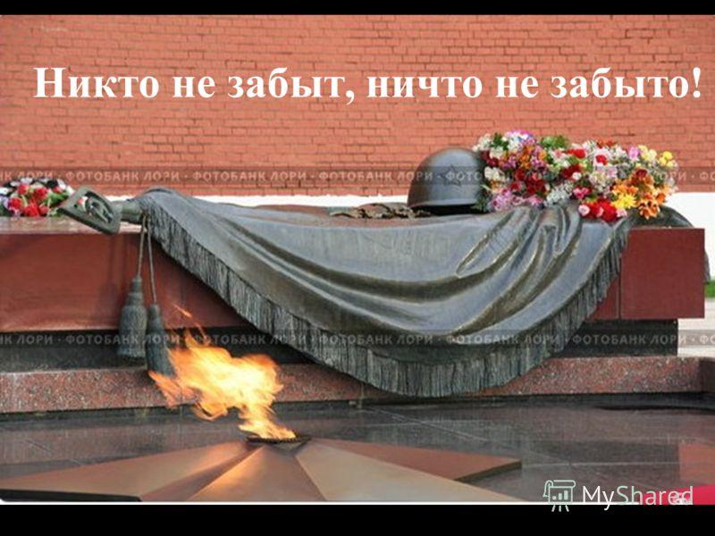 Никто не забыт, ничто не забыто!