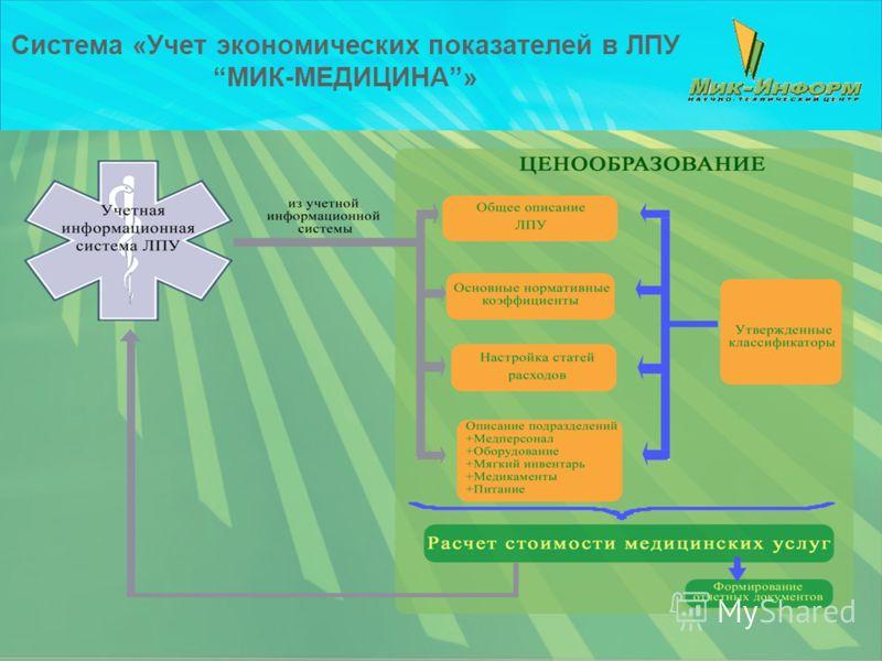 Система «Учет экономических показателей в ЛПУМИК-МЕДИЦИНА»