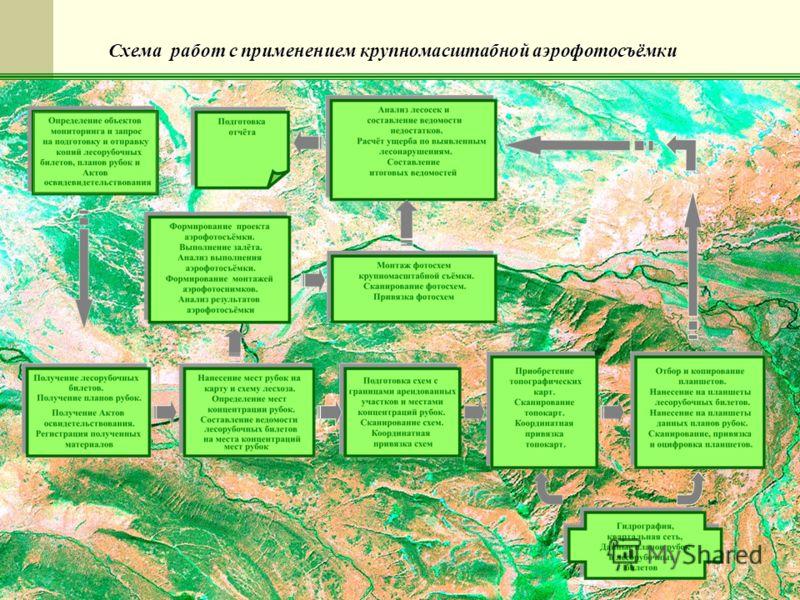 ФГУ Авиалесоохрана7 Схема работ с применением крупномасштабной аэрофотосъёмки