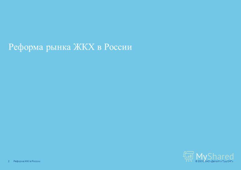 Реформа рынка ЖКХ в России: основные предпосылки – Цели реализации – Структура рынка – Тарифная политика – Требования инвесторов ГЧП в проектах ЖКХ – Основные участники – Типология проектов – Типовая структура проекта Роль финансового консультанта –