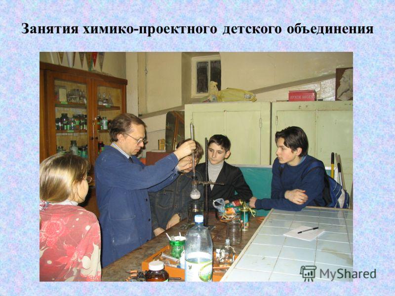 Занятия химико-проектного детского объединения