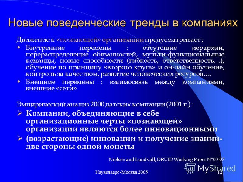 Наувелаерс -Москва 200511 Инструменты «традиционной» инновационной политики в регионах ЕС