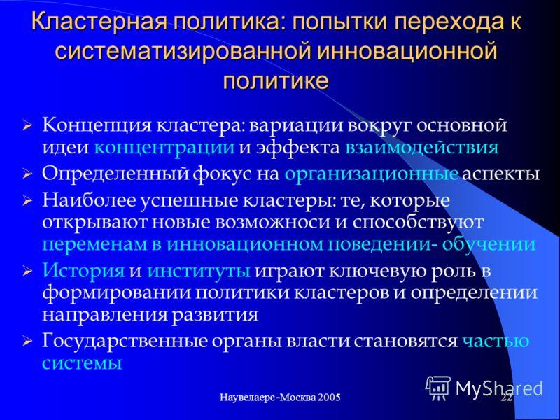 Наувелаерс -Москва 200521 Посредническая S&T система в Валлонии Организация поддержки A B C Университеты, управление Интеллектуальной собственностью, Научные парки, венчурный капитал RDT aids, доступ к НИОКР в ЕС, … Коллективные исследовательские цен