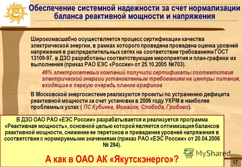 Но сначала необходимо: 1. Выполнить требования приказа РАО «ЕЭС России» от 25.10.2005 703 «О лицензировании деятельности по продаже электрической энергии и обязательной сертификации электрической энергии в электрических сетях общего назначения». 2. О