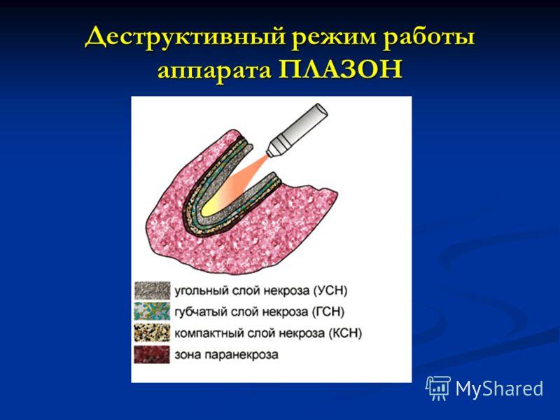 Деструктивный режим работы аппарата ПЛАЗОН