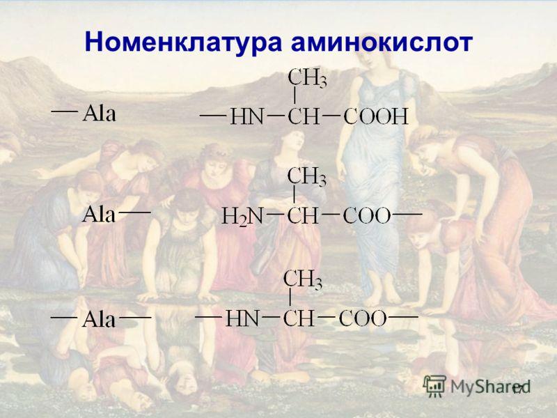 17 Номенклатура аминокислот