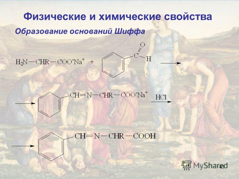 41 Образование оснований Шиффа Физические и химические свойства