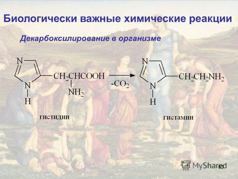 63 Биологически важные химические реакции Декарбоксилирование в организме