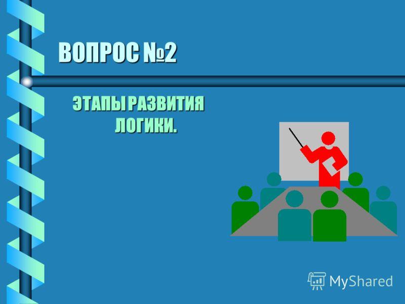 ВОПРОС 2 ЭТАПЫ РАЗВИТИЯ ЛОГИКИ.