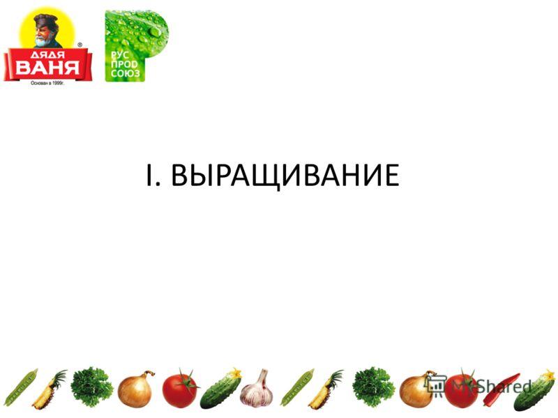 I. ВЫРАЩИВАНИЕ