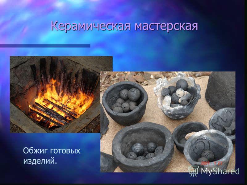 Керамическая мастерская Обжиг готовых изделий.