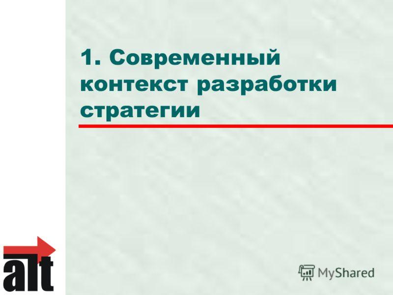 1. Современный контекст разработки стратегии