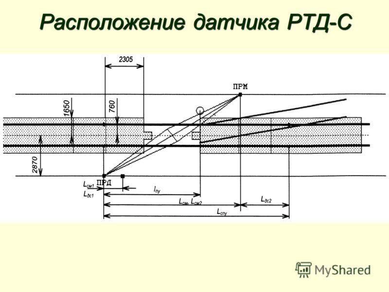 Расположение датчика РТД-С