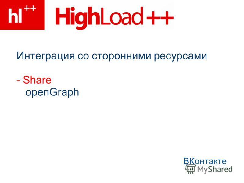 Интеграция со сторонними ресурсами - Share openGraph ВКонтакте