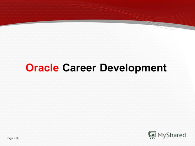 Page 26 Oracle Career Development
