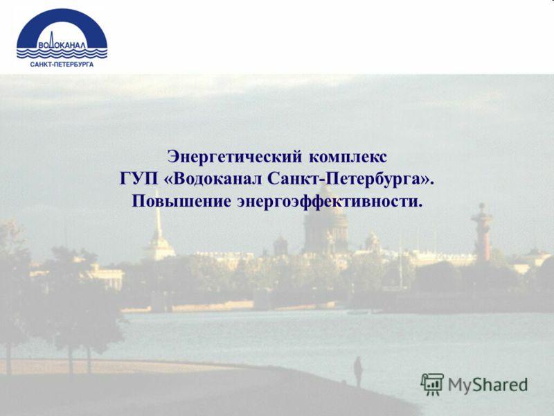 Энергетический комплекс ГУП «Водоканал Санкт-Петербурга». Повышение энергоэффективности.