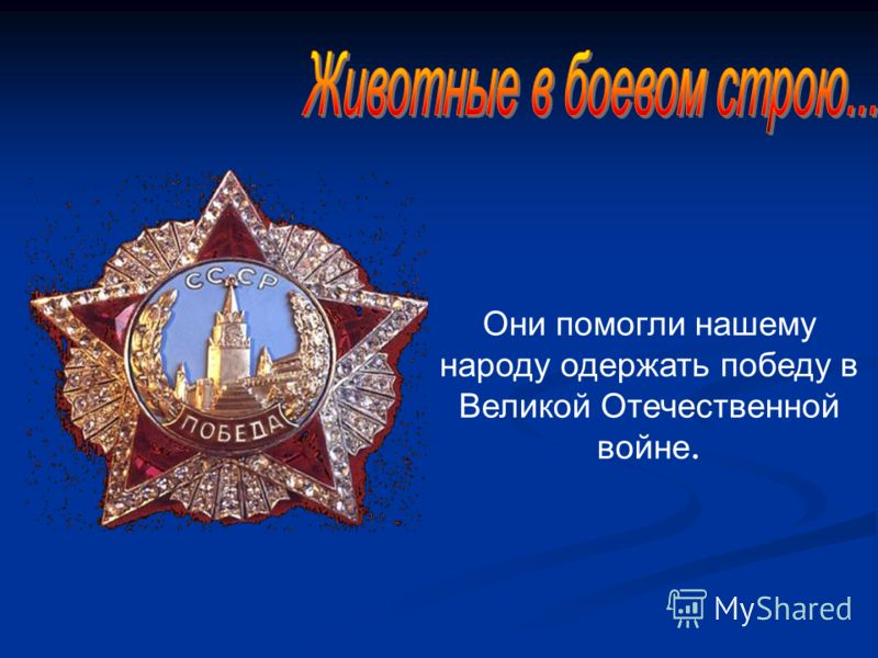 Они помогли нашему народу одержать победу в Великой Отечественной войне.