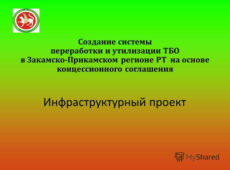 Создание системы переработки и утилизации ТБО в Закамско - Прикамском регионе РТ на основе концессионного соглашения Инфраструктурный проект