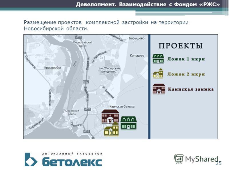 Размещение проектов комплексной застройки на территории Новосибирской области. Девелопмент. Взаимодействие с Фондом «РЖС» 25