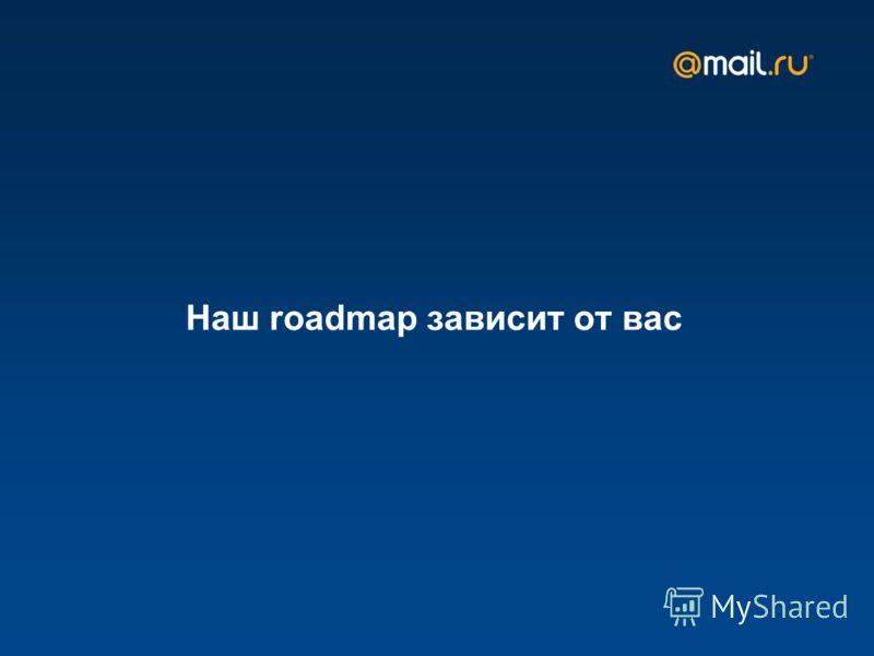 Наш roadmap зависит от вас
