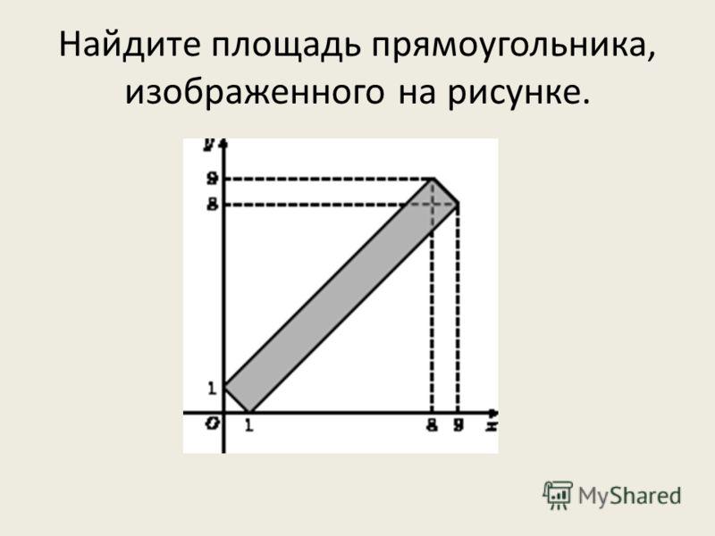 Найдите площадь прямоугольника, изображенного на рисунке.