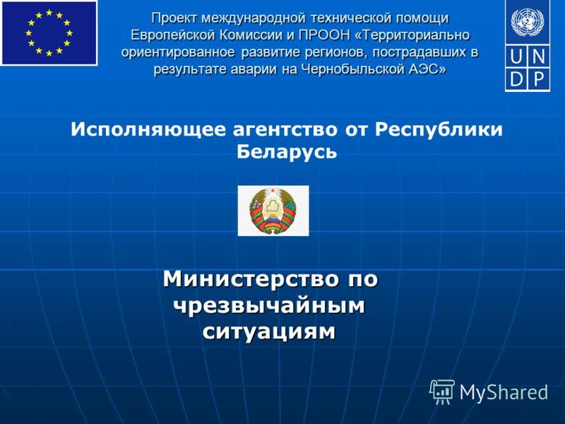 Проект международной технической помощи Европейской Комиссии и ПРООН «Территориально ориентированное развитие регионов, пострадавших в результате аварии на Чернобыльской АЭС» Министерство по чрезвычайным ситуациям Исполняющее агентство от Республики