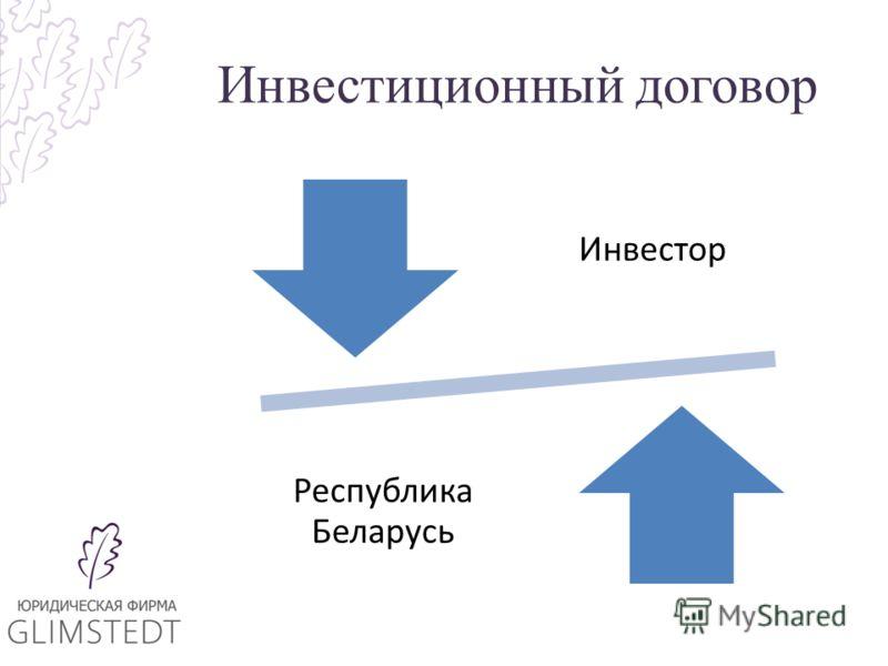 Инвестиционный договор Инвестор Республика Беларусь