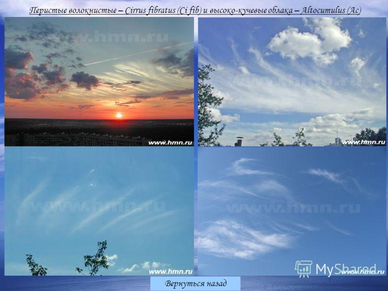 Вернуться назад Перистые волокнистые – Cirrus fibratus (Ci fib) и высоко-кучевые облака – Altocumulus (Ac)