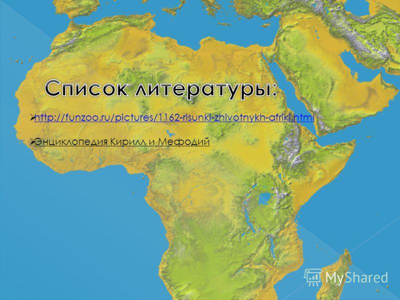 http://funzoo.ru/pictures/1162-risunki-zhivotnykh-afriki.html Энциклопедия Кирилл и Мефодий