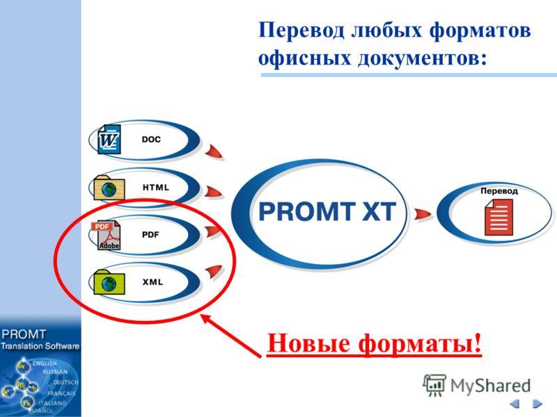 Перевод любых форматов офисных документов: Новые форматы!