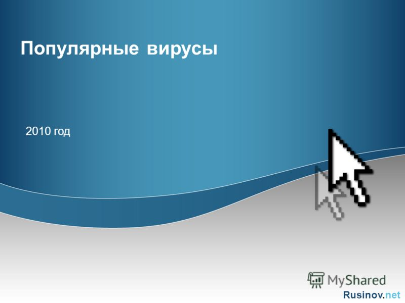 Rusinov.net Популярные вирусы 2010 год