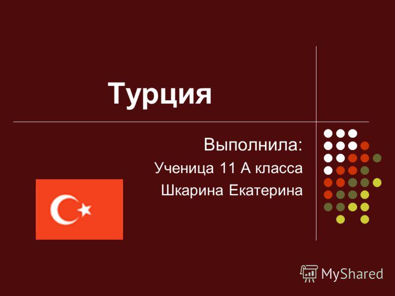 Турция Выполнила: Ученица 11 А класса Шкарина Екатерина