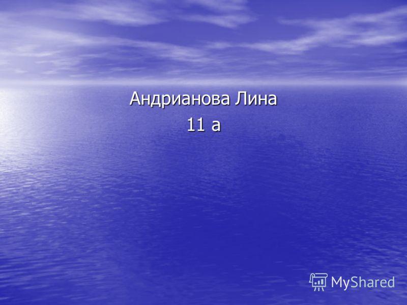 Андрианова Лина 11 а